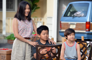 Jessica Huang with her sons. (@FreshOffABC/Twitter)