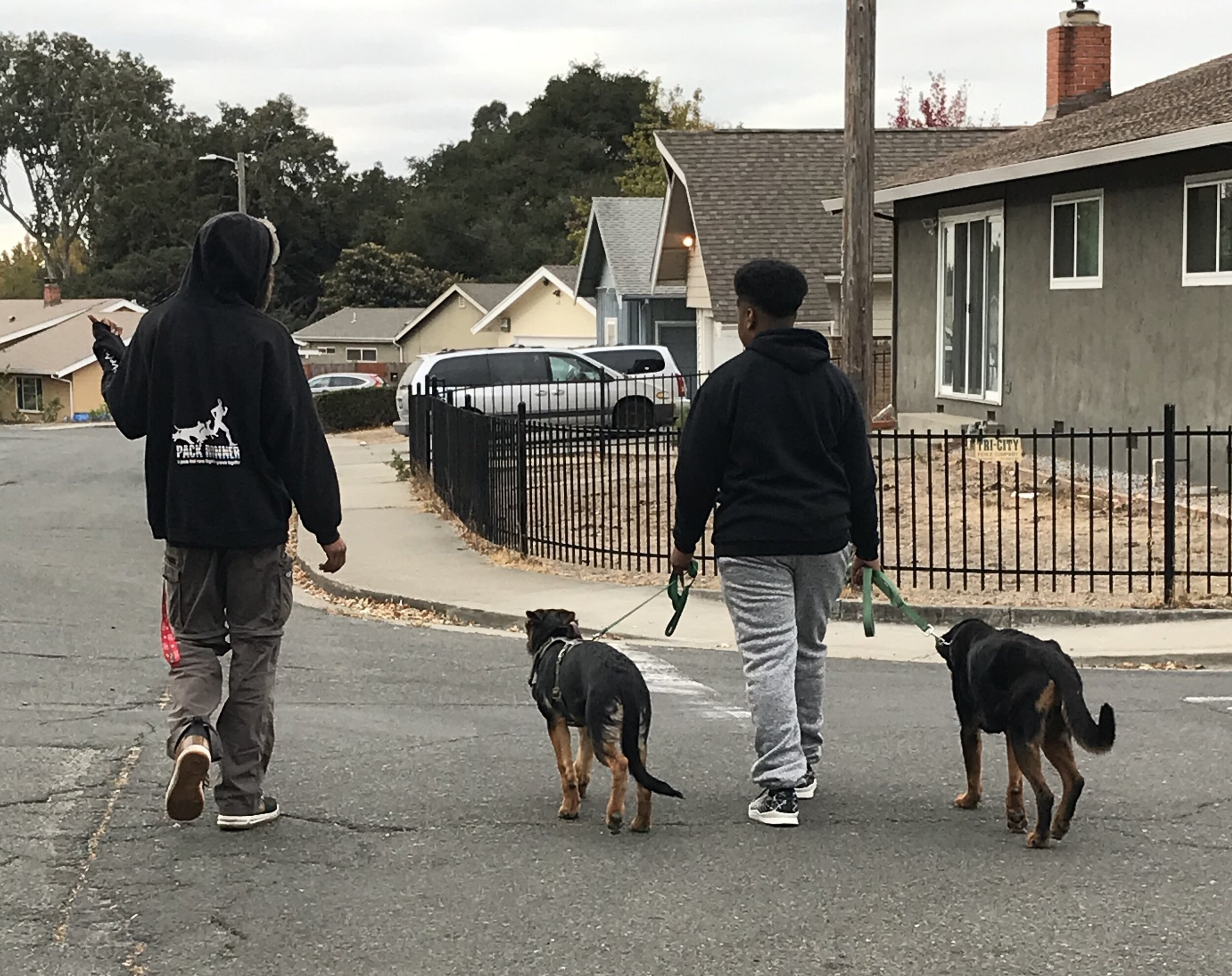 Troy working with youth and dogs.